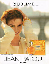 PUBLICITE ADVERTISING 064  1993  SUBLIME   parfum JEAN PATOU CLAUDE LELOUCHE