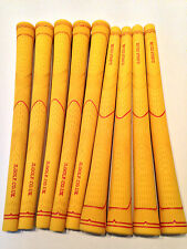 Set of 9 yellow JL Golf Durometer Grips+Tape+Instructions