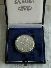 SOUTH AFRICA 1992 BARCELONA OLYMPIC GAMES 1oz 2 RAND SILVER PROOF - SAM BOX