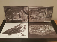 James Bond - Film Concept Drawings Prints - The World Is Not Enough - MINT * A4