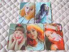 Lot of 5 Red Velvet 3rd Mini Album Russian Roulette Photocard Full Set