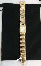 "Victoria Wieck ""Floating Ice"" Dancing Crystal Bracelet Watch GOLDTONE NWT"