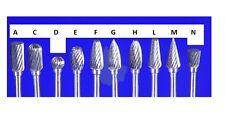 Form H5 Flame  Z5 Hartmetall HM Bit  Fräser 3 mm Schaft, 5 Ø ETHMF-H5