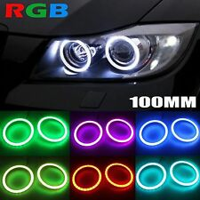 100 MM Universal Multi-Color RGB COB Halo Rings For Motorcycle Car Headlight