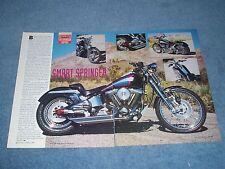 """1993 Spring Softail Custom Harley-Davidson Vintage Article """"Smart Springer"""""""