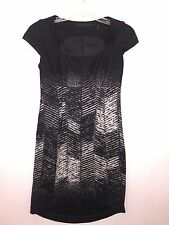 L.A.M.B. Gwen Stefani Women's Black Gray Herringbone Mini Dress Size 4 SMALL