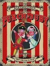 PUNCH AND JUDY PUPPET SHOW SEASIDE HOLIDAYS WALL ART METAL SIGN TIN PLAQUE 97
