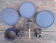 Three Yamaha TP65 Electronic Drum Pads with Pad Mount & Cable TP-65 EC