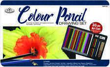 36 piezas de colores lápiz, pastel y herramientas de dibujo bosquejado artista Tin rart-201