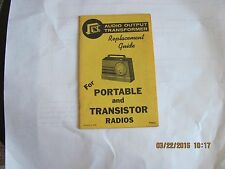 Portable and Transistor radio output transformer repair guide 1950s 1960s