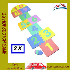 2 X KIDS GARDEN PUB HOPSCOTCH SET SCRIBBLE TOY GAME CHILDREN HOP SCOTCH 7 x 2 FT