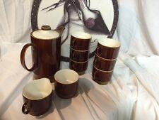 BEAUTIFUL Brown And White POOLE ENGLAND 10 PIECE TEA/COFFEE SET