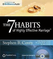 THE 7 HABITS OF HIGHLY EFFECTIVE MARRIAGE unabridged audio CD by STEPHEN R COVEY