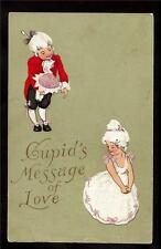 c1912 Cupid's love message victorian children Valentine's Day Germany postcard