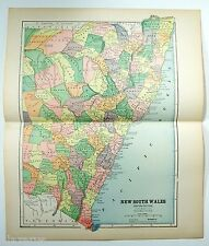 Original 1887 Map of Eastern New South Wales by Hunt & Eaton