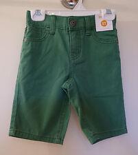 Brand New Gymboree Spring Social Green Denim Shorts ~ Boy's Sz 2T