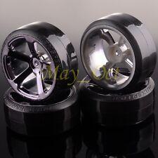 5mm Offset GRAY Wheel Rim & Tyre For RC 1:10 Drift Car HSP 405T-1086