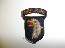 b3271 WW2 US Army 101st Airborne Infantry Red tongue Gold & Silver Bullion R3A