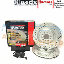 For Seat Leon 1.8 T turbo cupra R front Drilled brake discs & brembo pads 323mm