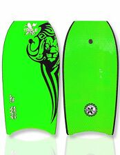 "New Triple X ""The Dubb"" 42"" Bodyboard/Boogieboard/Green/With Coiled Leash"