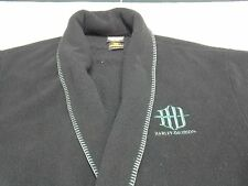 VTG? Harley Davidson Mens Black Fleece Bathrobe with Belt! Made in USA 2XL
