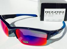 NEW Oakley QUARTER JACKET Blue w Red Iridium Youth Sunglass Golf Basebal 9200-04