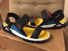 ZARA MAN MULTICOLOR BLACK YELLOW BLUE OPEN STRAPS BELCRO CLOSURE SANDALS 43 10
