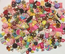 100 Pcs Kawaii Dessert Cabochons Scrapbooking Hair Bow Crafts Decoden -USA