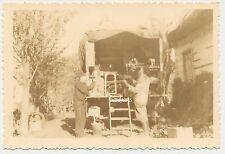 Foto Polen Dorf  Biala 1941 Reparaturwagen     2.WK (B28)