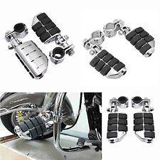 """1-1/4"""" Highway Foot Pegs Footrest Engine Guard Clamps Mounts For Harley Davidson"""