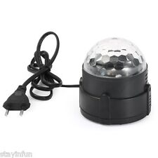 RGB Magic Crystal Effect Ball Light LED Stage Club DJ Party Disco Lights EU Plug
