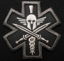SPARTAN MEDIC TACTICAL EMT EMS MILITARY COMBAT USA ARMY MORALE SWAT VELCRO PATCH