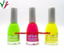 SMALTI 3 PEZZI SET COLORATI FLUO' DECORAZIONI UNGHIE NAIL POLISH TEDDY stock