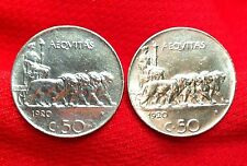 1920s Italy Four Lions Pulling Chariot & Aequitas Italian Antique Coin Cufflinks