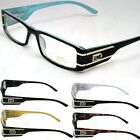 DG Eyewear Clear Lens Frames Eye-Glasses Rectangular Fashion Nerd Mens Womens