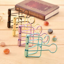 1Pc Simple Hollow Out  Metal Binder Clips File Paper Clips Organizer 57*33*10mm