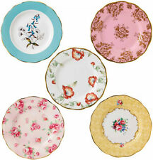 "100 YEARS OF ROYAL ALBERT 5 x PLATES 20cm / 8"" 1950-1990 - NEW/BOXED"