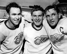1952 Detroit Red Wings SID ABEL, RED KELLY JOHNNY WILSON Glossy 8x10 Photo Print