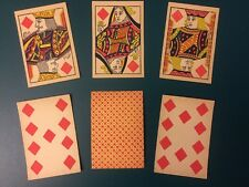 6 Antique No Numbers Indices Playing Cards Civil War Old West Straight Poker