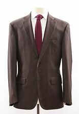 NWT. ISAIA NAPOLI Brown Super 130's Wool 2 Button Suit 50/40 S $3495