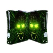 wy32 red GREEN eyes Skull decal Skin case cover for xbox360 Console sticker