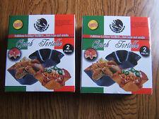 2 BRAND NEW Sets Quick Tortilla Taco Salad Bowl Maker/Pan 4 PIECES/PCS TOTAL