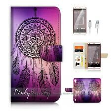 HTC Desire 530 Flip Wallet Case Cover P0420 Dream Catcher