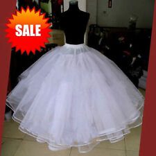 Full white 6 Layer Hoopless Prom Wedding Crinoline Bridal Party Petticoat