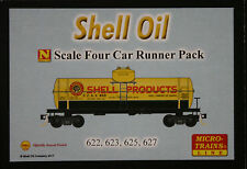 N Scale Micro Trains 99300125 SHELL tank car 4-pack   --  NEW IN BOX