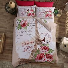 Fleur D'Paris Eiffel Tower Bedding King Duvet Quilt Cover & Pillowcase Bed Set