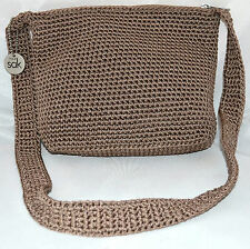 The Sak.Com Brown Crochet Knit Shoulder Bag