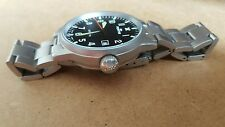STAINLESS STEEL FORTIS FLIGER GENTS WATCH BRACELET AUTOMATIC BLACK DIAL CASE