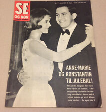 KING CONSTANTINE II OF GREECE QUEEN ANNE-MARIE CHRISTMAS ON Danish Magazine 1969
