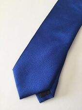 "Yves Saint Laurent YSL Blue Horizontal Striped Silk Tie 3.25"" MF10846 Italy Made"